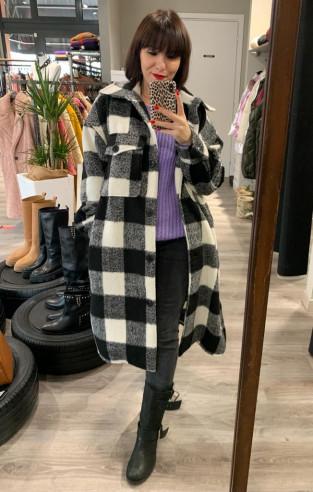Vicolo - Cappotto camicia quadri