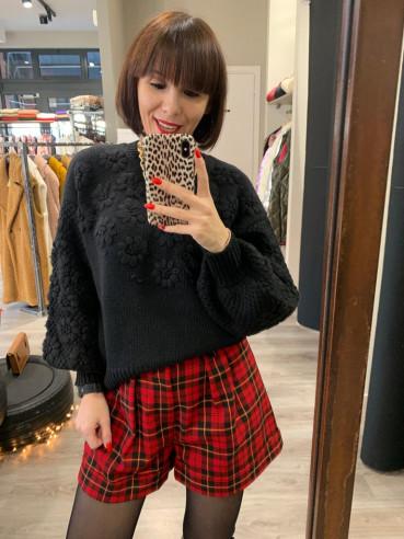 Vicolo - Shorts quadri rosso